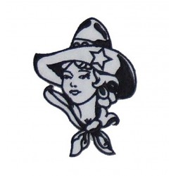 patch cow girl à chapeau...