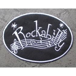 patch rockabilly oval...