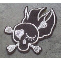 patch crane flammes noir...