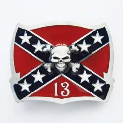 boucle de ceinture drapeau...