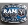 boucle de ceinture dodge RAM bleu pick up truck homme femme
