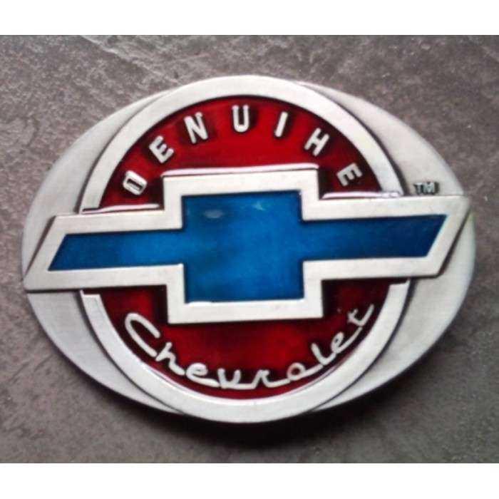 484327d655a9 boucle de ceinture chevrolet genuine rouge et bleu homme