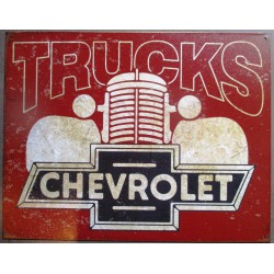 plaque chevrolet truck pick up chevy muscle car tole pub garage