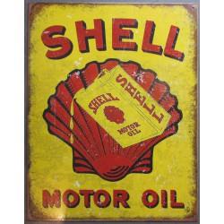 plaque chevrolet chevy power vieux logo  tole pub garage