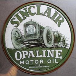 plaque shell motor oil avec vieux bidon et coquillage tole pub garage