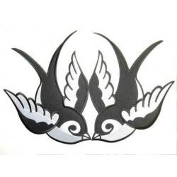 paire de patch hirondell noir et blanche new school ideal pin up rockabilly