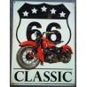 plaque moto classic style vieille moto americaine  anglaise 70x50cm tole deco us