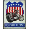plaquemoto historic riding 70x50cm tole deco us garage
