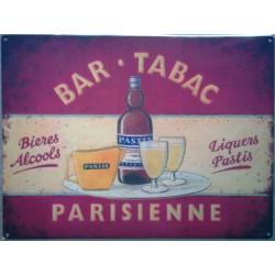 plaque bar tabac parisienne  70x50cm tole deco us biere alcool pastis