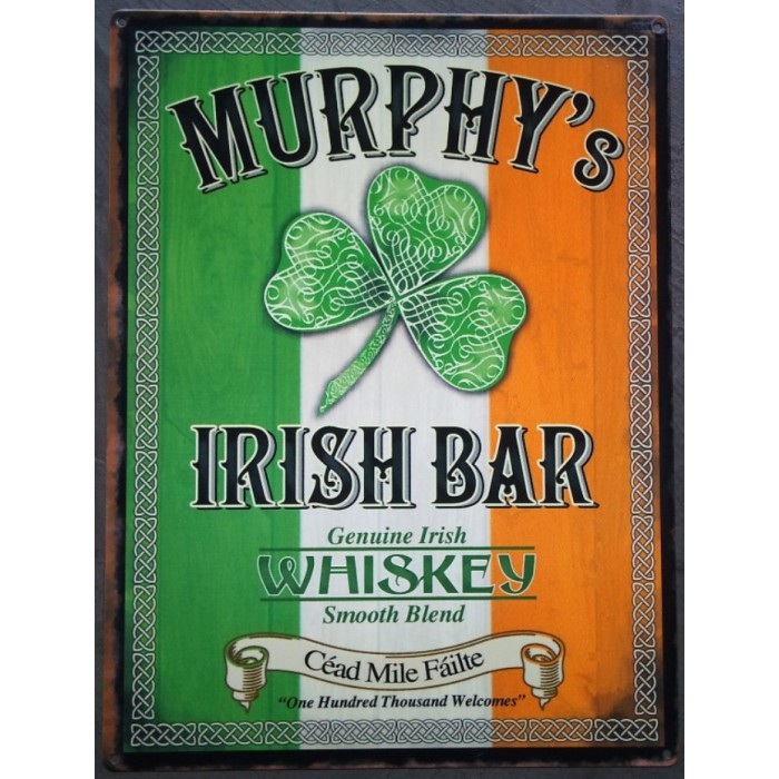 plaque murphys irish bub biere beer 70x50cm tole deco us  loft cuisine  bar