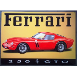 plaque  ferrari 250 gto 70x50cm tole deco métal bar  garage