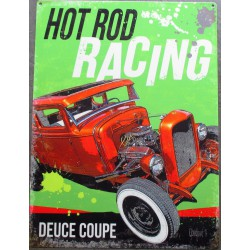 plaque  hot rod racing  affiche tole 70x50cm tole deco us diner loft