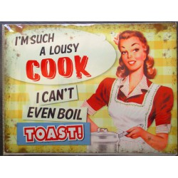 plaque pin up such a lousy cook tole style affiche retro 50's usa