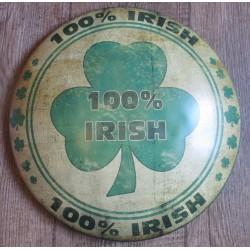plaque 100% irish pub irelande bombee style enjoliveur tole publicitaire us deco bar