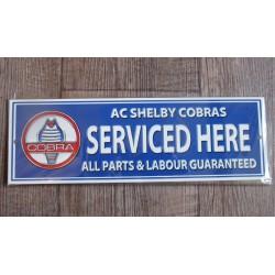 plaque cobra service  tole pub deco garage en metal affiche ford mustang