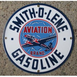 plaque emaillée smith o lene 30cm tole email dego garage aviation