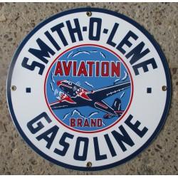 plaque emaillée smith o lene 30cm tole email dego garage aviation