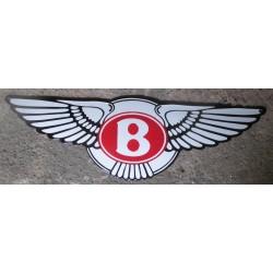 grosse plaque emaillée logo bentley avec des ailles 50cm tole pub