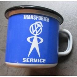 mug VW transporter servicebleu en email tasse à café emaillée volkswagen