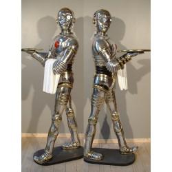 statue star warrs C3PO ris argenté la guerre des étoile déco taille réel