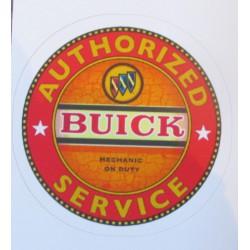 mini sticker buick authorised service orange autocollant pin up