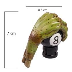 levier de vitesse 8 ball et main frankenstein monstre vert pommeau metal
