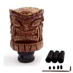 levier de vitesse  en résine tiki look bois pommeau  hawaii universel