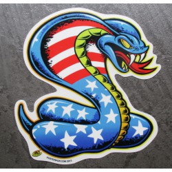 sticker cobra drapeau americain etat unis autocollant droit