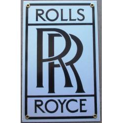plaque emaillée rolls rolls voiture deco garage tole email pub metal