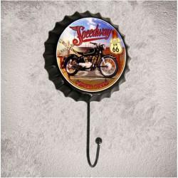crochet patere capsule speedway moto route 66  americaine 18x10cm deco garage loft bar