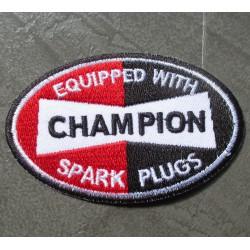 patch bougie champion spar plugs ecusson deco veste garage