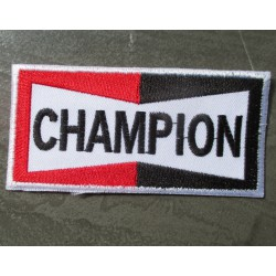 patch bougie champion spark plugs rectangulaire ecusson deco veste garage