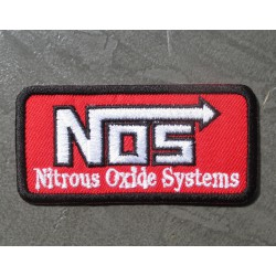 patch nos rouge nitro oxide system ecusson deco veste garage drag