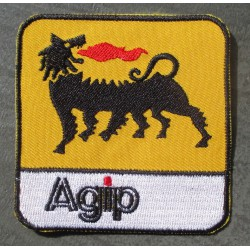 patch  agip carre ecusson deco veste garage  huile essencedrag