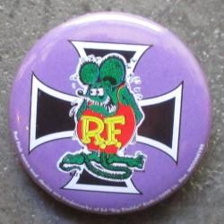 badge rat fink violet croix malte noir ideal casquette kustom big daddy