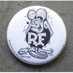 badge rat fink noir blanc ideal casquette kustom big daddy