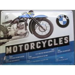 plaque moto bmw 1935 R17 motorcycle tole deco garage metal
