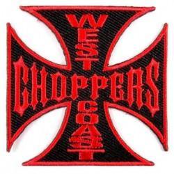gros patch west coast choppers noir rouge 19 cm ecusson dos veste blouson