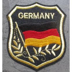 patch blason allemagne 8x7 cm ecusson thermocollant  drapeau