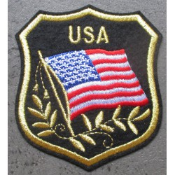 patch blason usa  etats unis 8x7 cm ecusson thermocollant usa drapeau