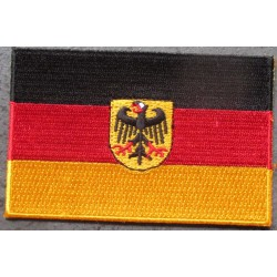 patch drapeau allemagne 9x5.5 cm ecusson thermocollant  pour vetements