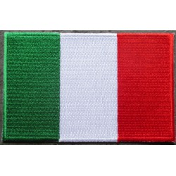 patch drapeau italie 9x5.5cm ecusson thermocollant  italian flag