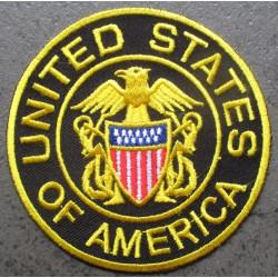 patch rond united states of america 7.5 cm ecusson thermocollant usa drapeau