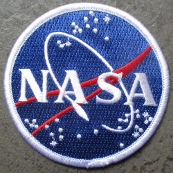patch rond NASA espace  7.5 cm ecusson thermocollant usa drapeau