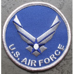 patch rond US air force bleu aviation  7.5 cm ecusson thermocollant usa drapeau