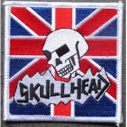 patch carré skull head drapeau UK angleterre 7 cm ecusson thermocollant usa drapeau