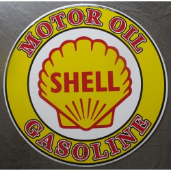 plaque shell motor oil gasoline tole metal garage huile pompe à essence