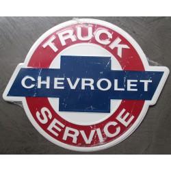 plaque chevrolet truck service 36x29 cm tole publicitaire metal usa chevy