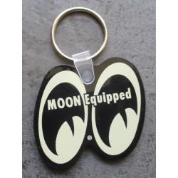 porte clé moon equipped blanc cassé beige mooneyes import usa plastique souple