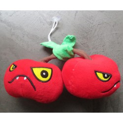 fuzzy dice pour retroviseur  cerise  méchante zombie  rouge
